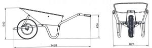 Тачка будівельна Limex STD - 100